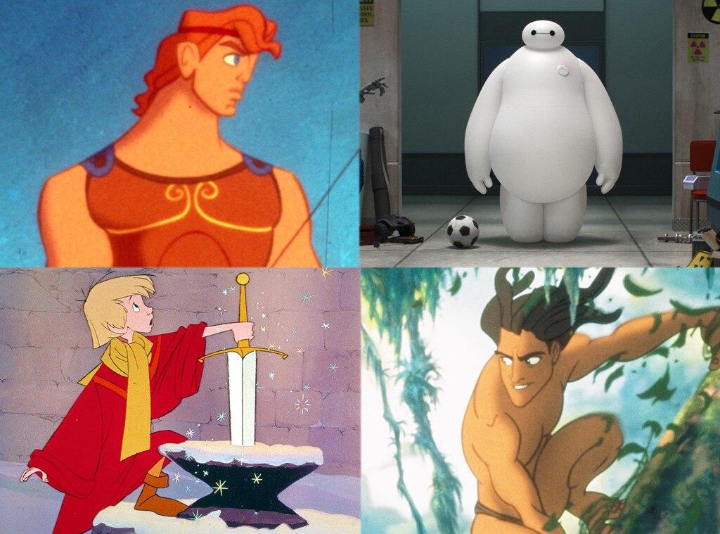 Hercules, Big Hero 6, Sword in the Stone, Tarzan