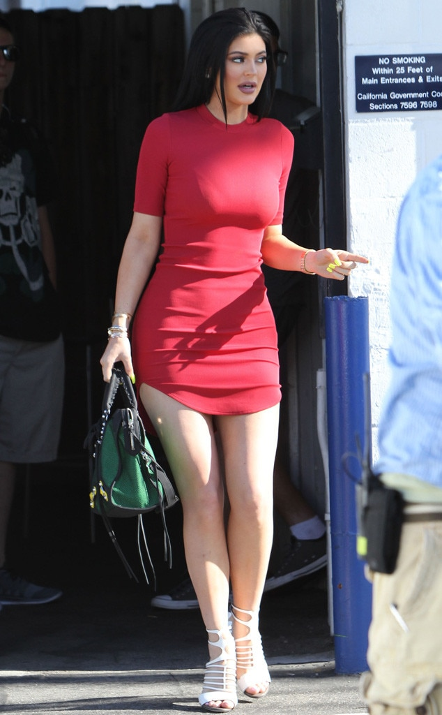 Kylie Jenner Steps Out In Chic Red Mini Dress Before Fourth Of July Holidayu2014See The Photo! | E! News