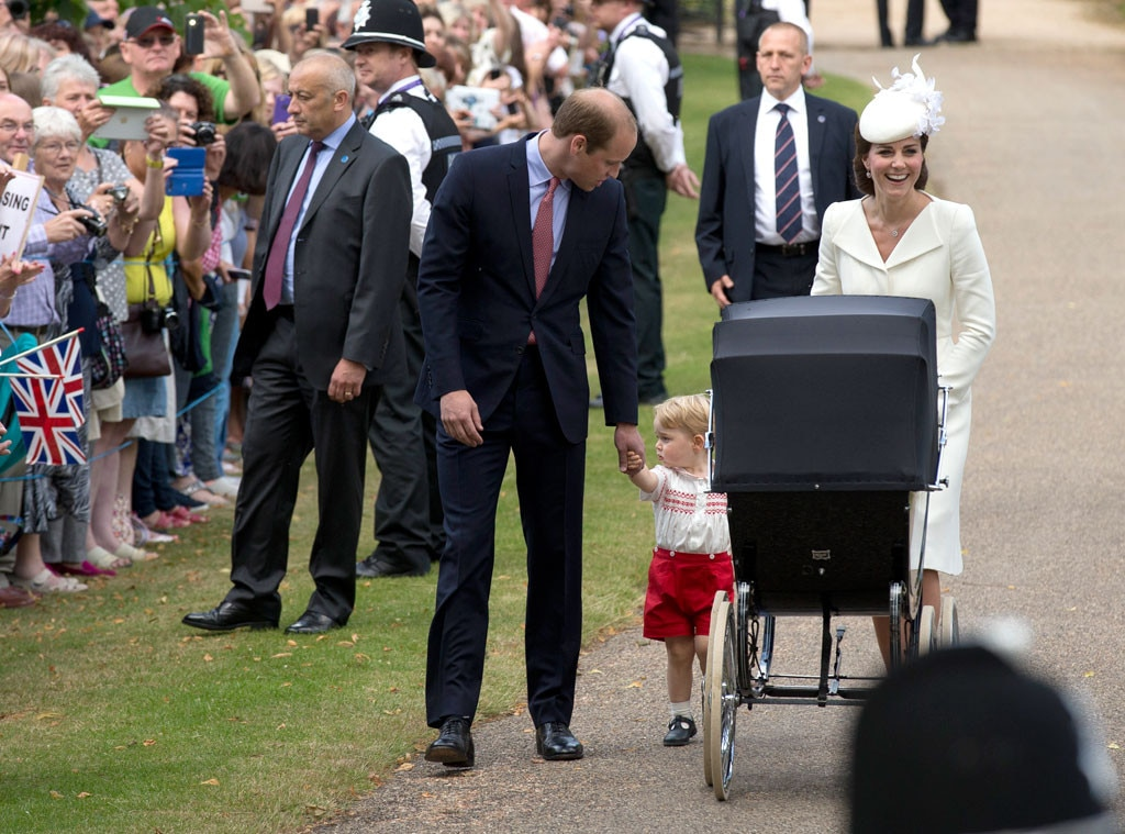 Prince William, Duchess of Cambridge, Prince George, Princess Charlotte, Christening