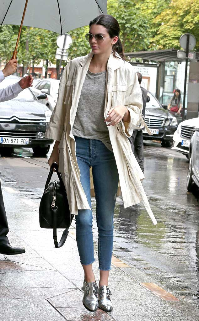 Rainy Day Attire from Kendall Jenneru0026#39;s Street Style | E! News