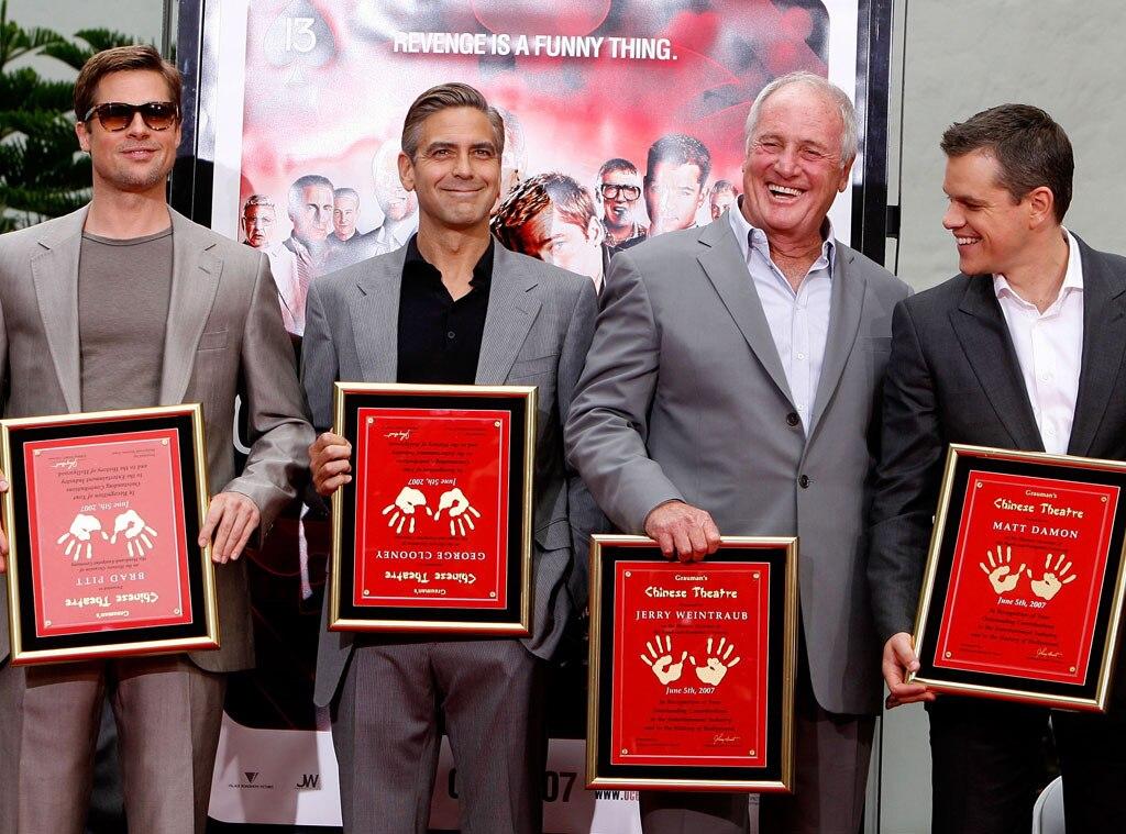 George Clooney, Jerry Weintraub, Matt Damon, Brad Pitt