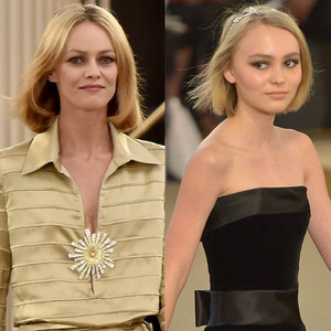 Lily-Rose Depp, Vanessa Paradis, Chanel Paris Fashion Week
