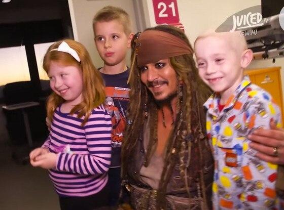 Johnny Depp, Captain Jack Sparrow, Children's Hospital