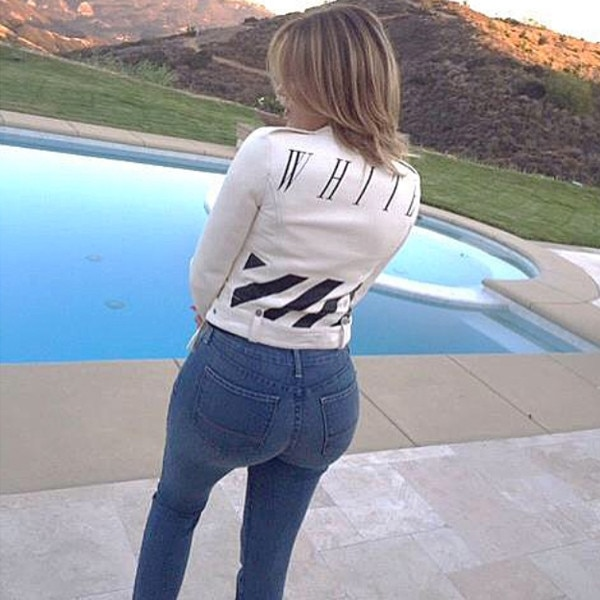 khlo233 kardashian instagrams a pic of her enviable booty