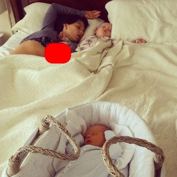 Hilaria Baldwin, Sleeping, Instagram