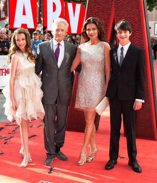 Michael Douglas, Catherine Zeta-Jones, Family Picture