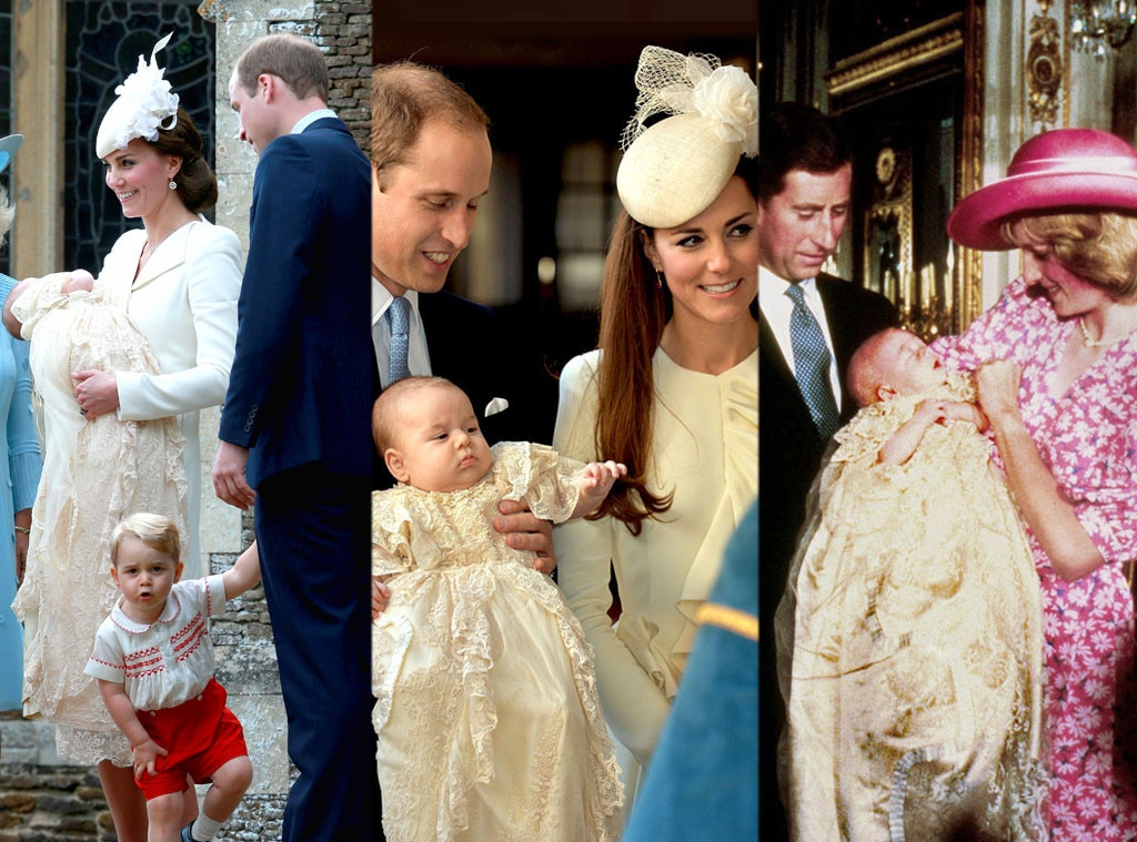 Princess Charlotte, Prince George, Prince William, Kate Middleton, Princess Diana, Prince Charles, Christening