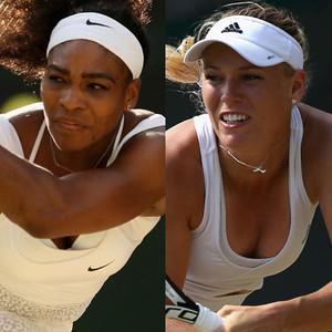 Serena Williams, Caroline Wozniacki, Wimbledon