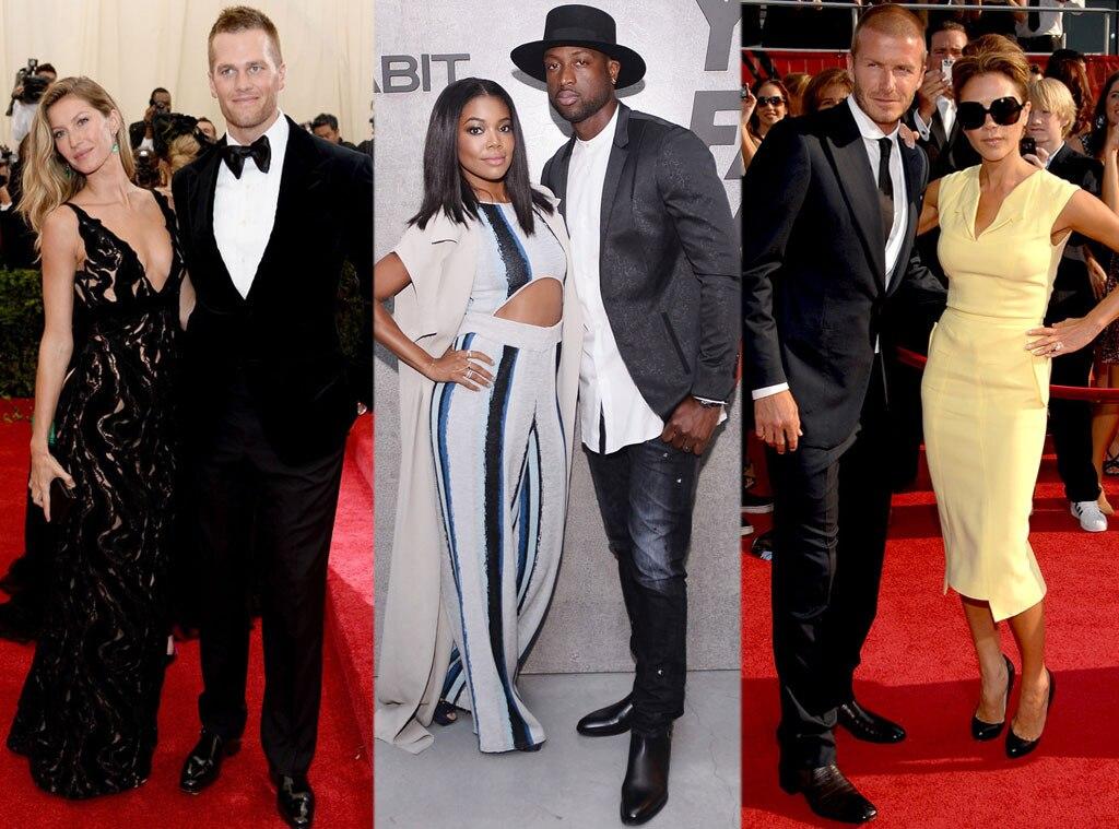 Gisele Bundchen, Tom Brady, Gabrielle Union, Dwyane Johnson, David Beckham, Victoria Beckham