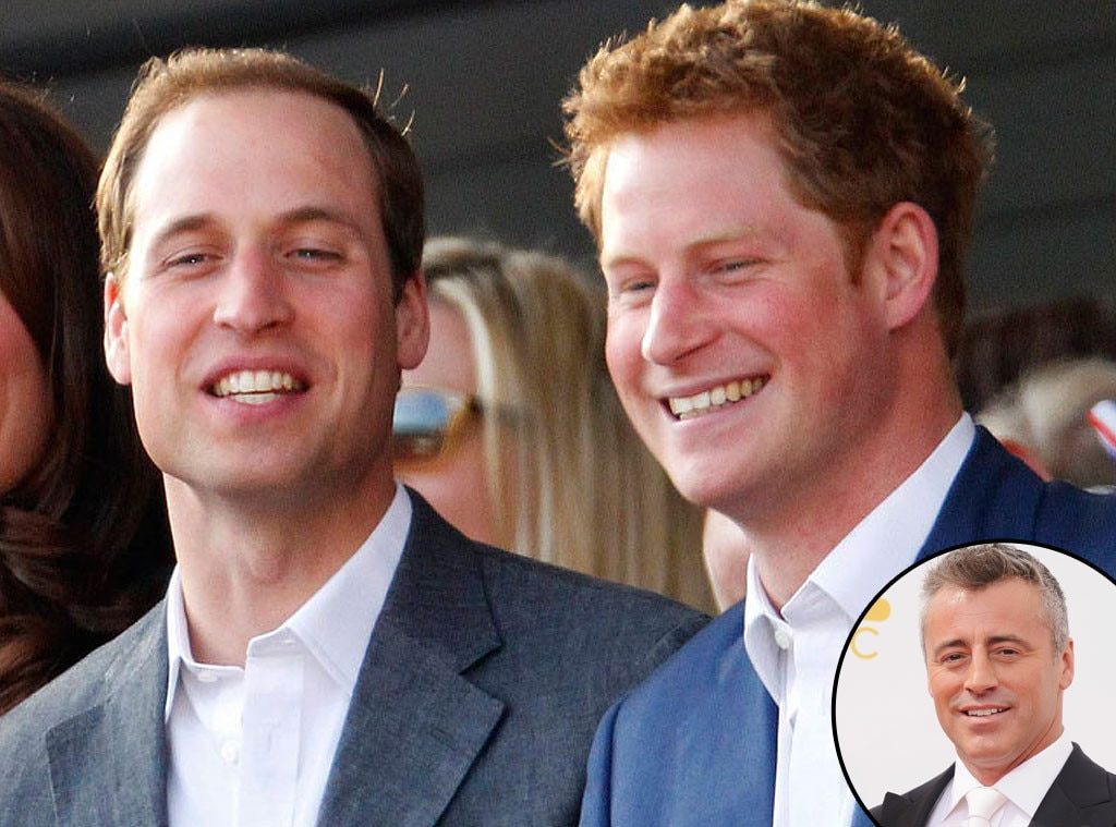 Prince William, Prince Harry, Matt LeBlanc