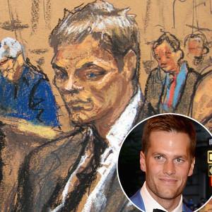 Tom Brady court sketch