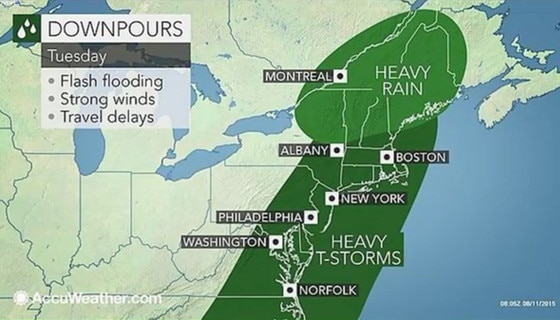 Penis Weather Map