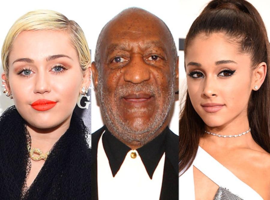 Miley Cyrus, Bill Cosby, Ariana Grande
