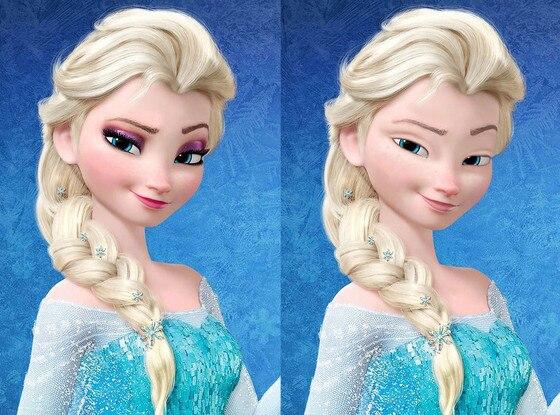 Disney Princesses Without Makeup