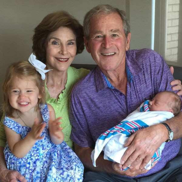 Laura Bush, George Bush, Instagram, Jenna Bush Hager, Poppy Louise Hager