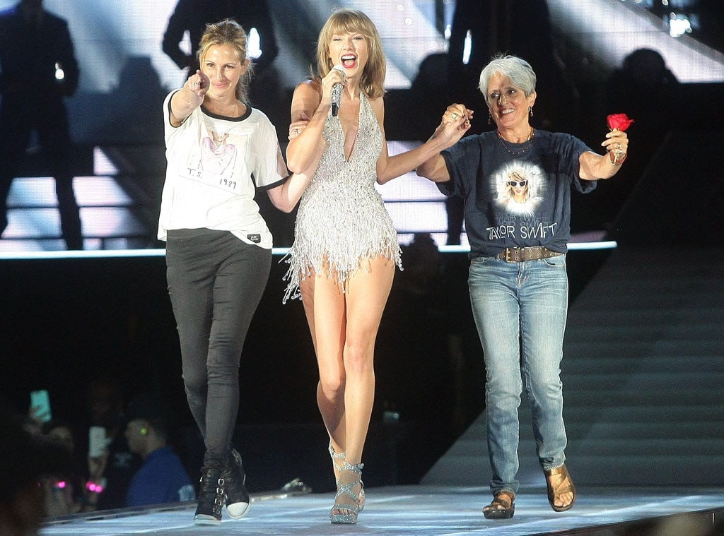 Taylor Swift Concert, Joan Baez, Julia Roberts