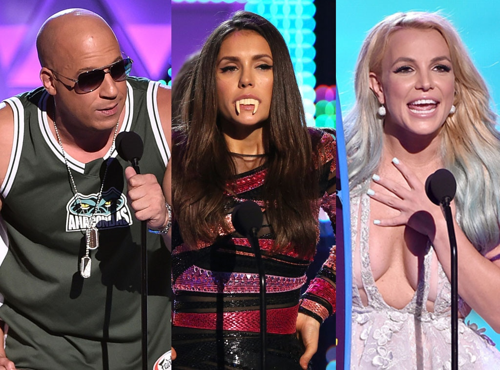 Britney Spears, Teen Choice Awards 2015, Vin Diesel, Nina Dobrev