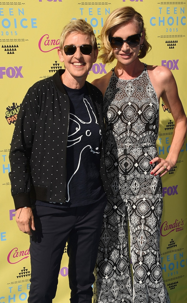 Ellen DeGeneres, Portia de Rossi, 2015 Teen Choice Awards