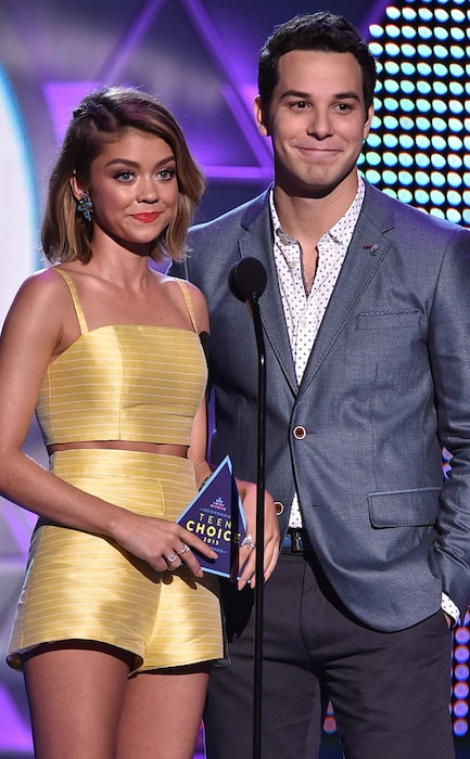 Sarah Hyland, Skylar Astin, 2015 Teen Choice Awards