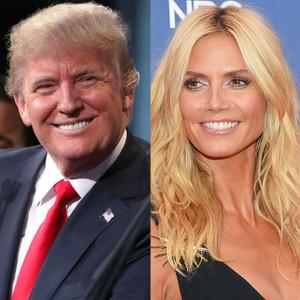 Donald Trump, Heidi Klum