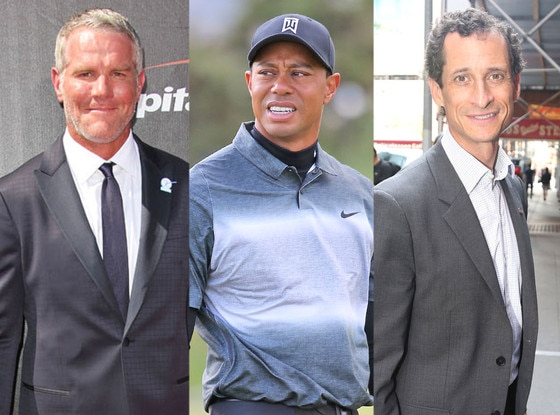 Brett Favre, Tiger Woods, Anthony Weiner