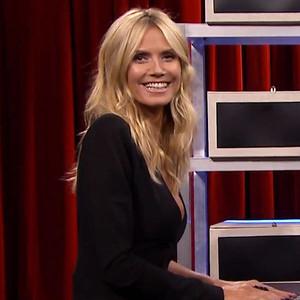 Heidi Klum and Jimmy Fallon Play ''Box of Lies,'' Take Fireball Shots on <i>The Tonight Show</i>&mdash;Watch Now!