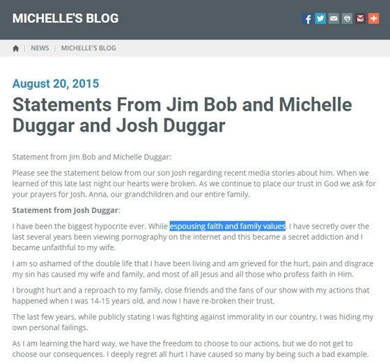 Duggar Statement