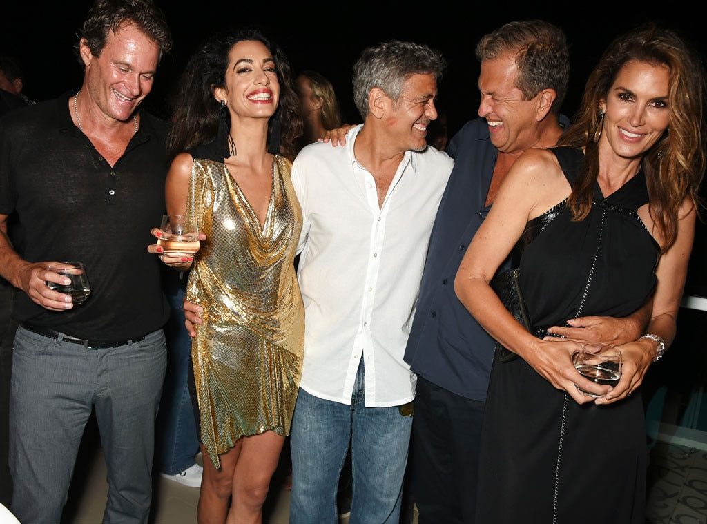 George Clooney, Amal Clooney, Mario Testino, Cindy Crawford, Rande Gerber
