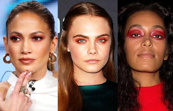 Red eyeshadow beauty trend