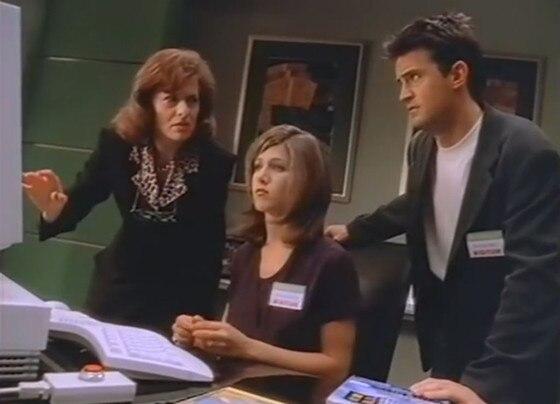 Friends, Microsoft Windows 95, Jennifer Aniston, Matthew Perry
