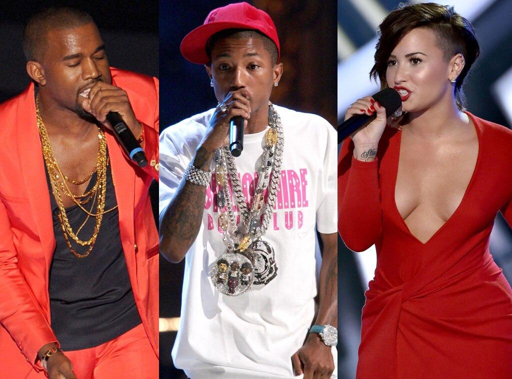 Demi Lovato, Kanye West, Pharell Williams, VMA