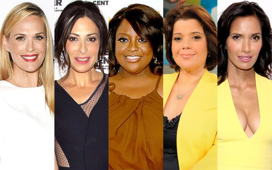 Molly Sims, Stacy London, Sherri Shepherd, Ana Navarro, Padma Lakshmi