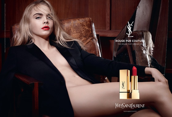 YSL Rouge Pur Couture, Cara Delevingne