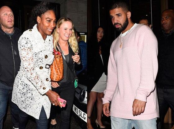 Serena Williams, Caroline Wozniacki, Drake