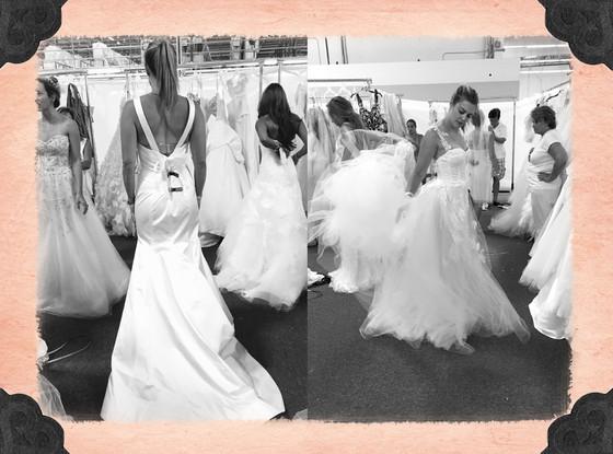 Carissa loethen 39 s bridal blog my first sample sale for Wedding dress samples for sale