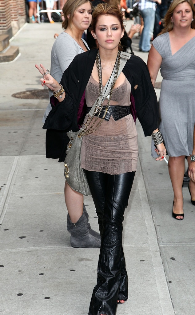 Miley Cyrus, Talk Show Fashion, Late show With David Letterman