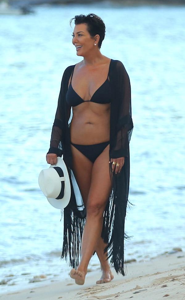 Kris Jenner From Kim Kardashian & Family Wear Bikinis In