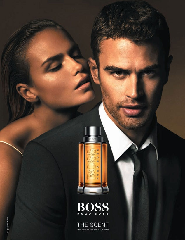 la premi re pub de parfum hugo boss de theo james la photo torride e news france. Black Bedroom Furniture Sets. Home Design Ideas