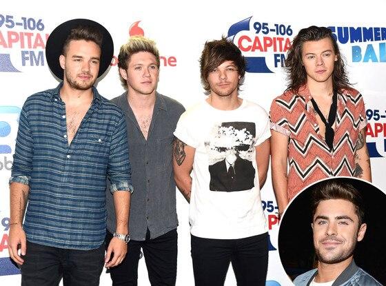 One Direction, Zac Efron