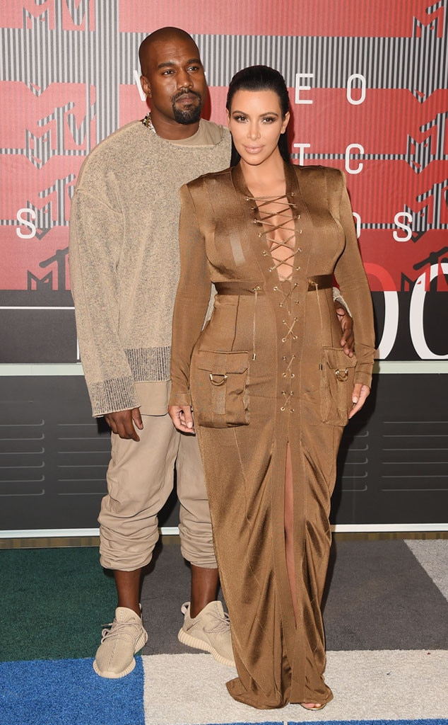 Kim Kardashian, Kanye West, 2015 MTV Video Music Awards, VMA