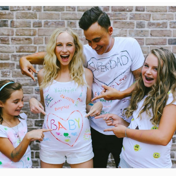 Joe King, Candice Accola, Pregnancy