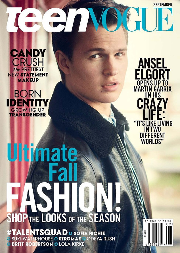 Ansel Elgort, Teen Vogue