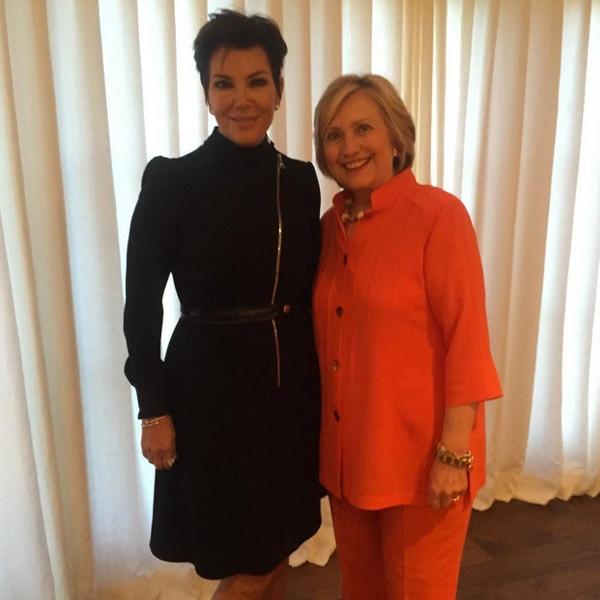 Kris Jenner, Hillary Clinton, Instagram