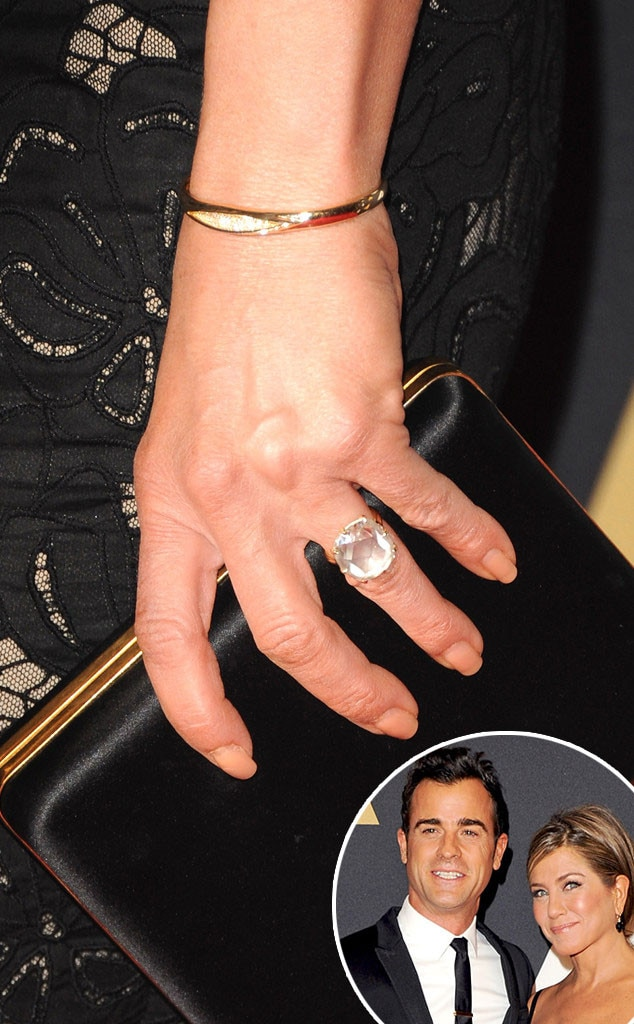 jennifer aniston amp justin therouxs wedding rings were