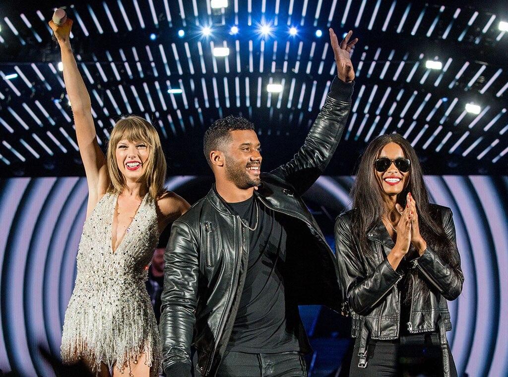Ciara, Russell Wilson, Taylor Swift Concert