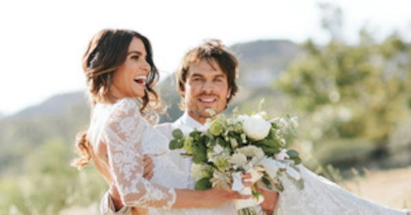 Nikki reed and ian somerhalder stun in newly released wedding pics nikki reed and ian somerhalder stun in newly released wedding pics e news junglespirit Images