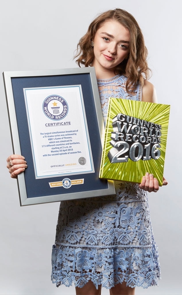maisie williams,  game of thrones, guinness book of records