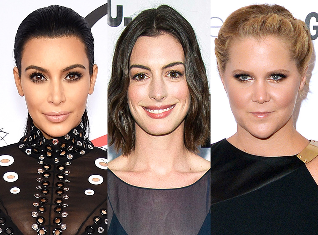 Kim Kardashian, Anne Hathaway, Amy Schumer