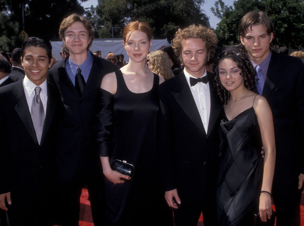 Emmy Cast Flashbacks, Wilmer Valderrama, Topher Grace, Laura Prepon, Danny Masterson, Mila Kunis, Ashton Kutcher, 1998
