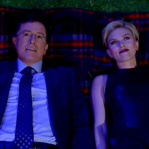 Stephen Colbert, Scarlett Johansson, The Late Show